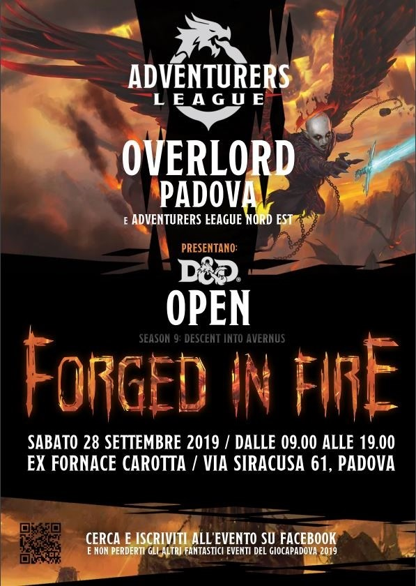 D&D OPEN presso Giocapadova il 28 settembre 2019
